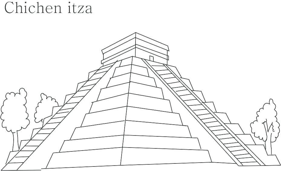 929x568 Pyramid Coloring Pages Pyramid Coloring Page Passing In Front