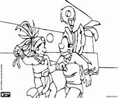236x196 Head Profile Of A Mayan Warrior Coloring Page Civilization