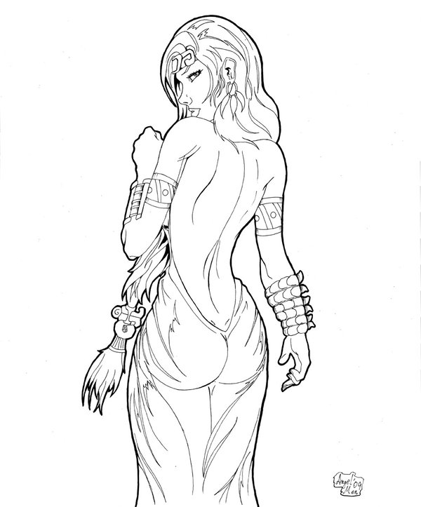 600x723 Mayan Princess 2 By Luisangelmex