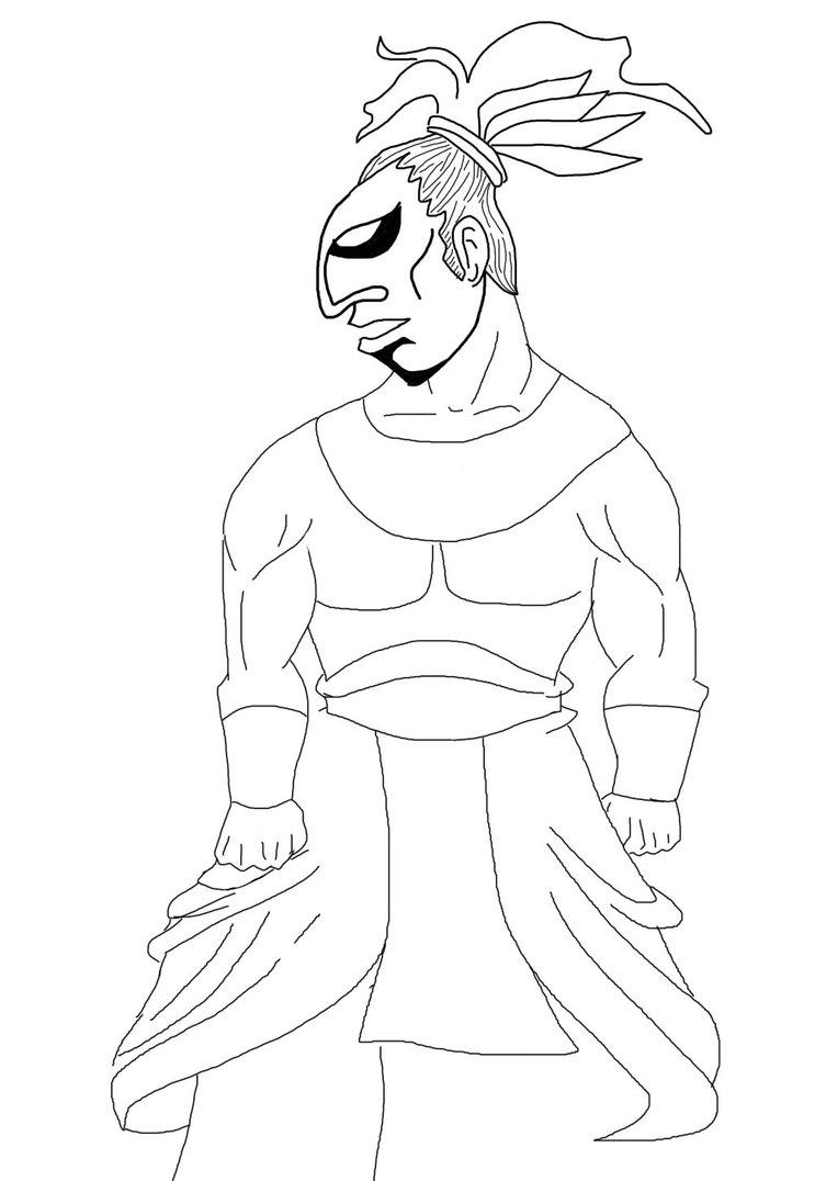 743x1076 Mayan Warrior By Balderbolt