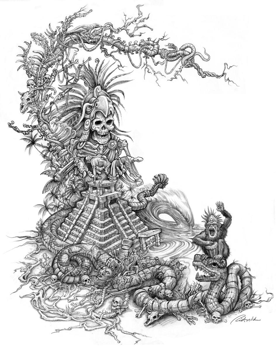 948x1197 Mayan Warrior By Rick Rietveld Dibujos Drawings