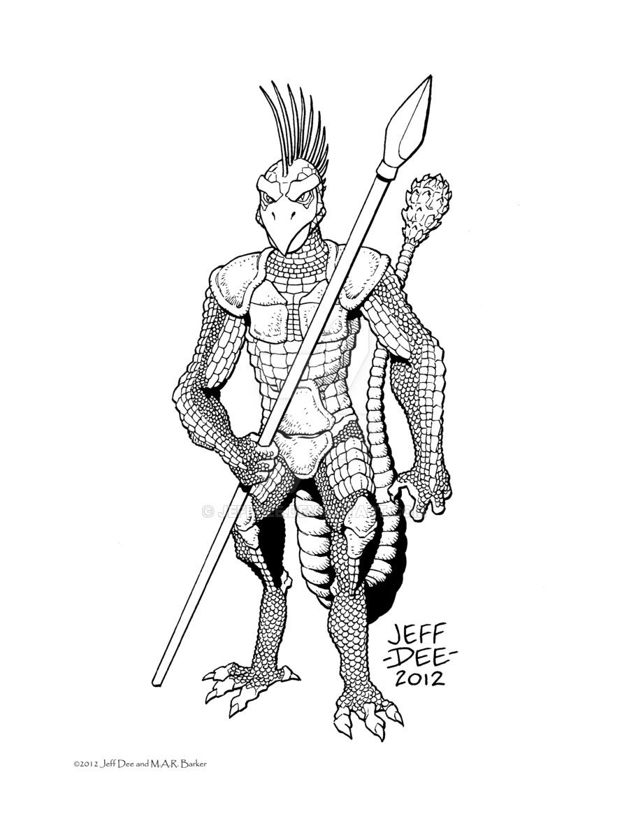 900x1165 Tekumel Bestiary Shen (The Demon Warrior) Tekumel