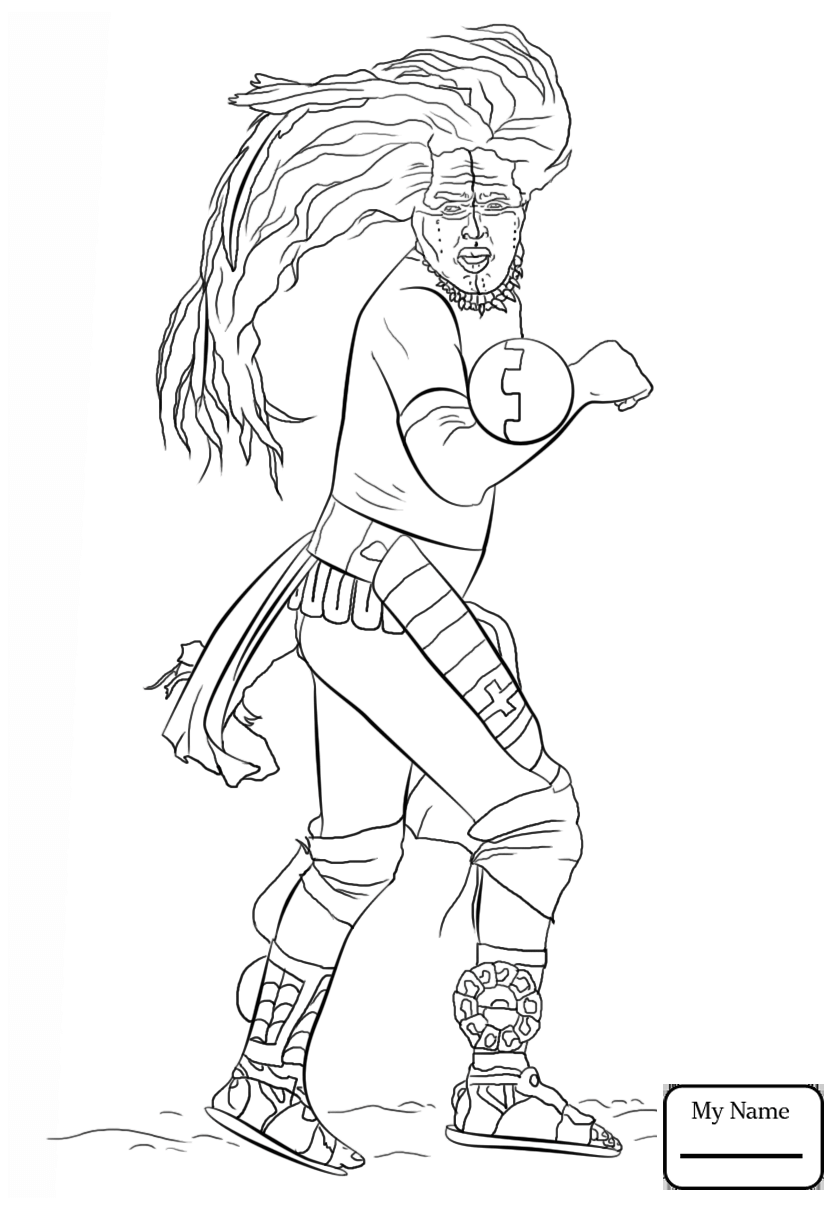 840x1210 Coloring Pages History Mayan Warrior