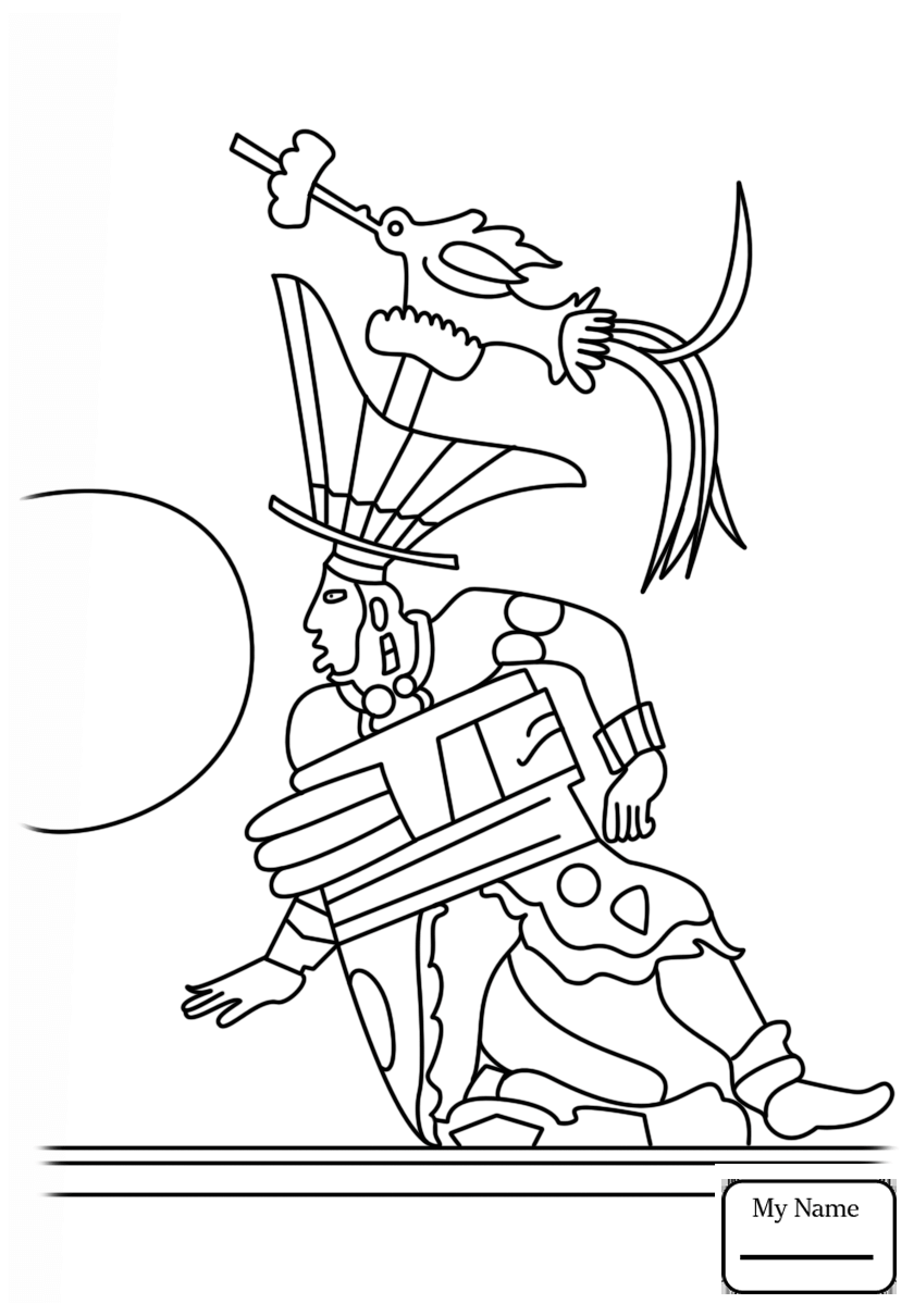 840x1210 8th Maya Month Mol History Coloring Pages