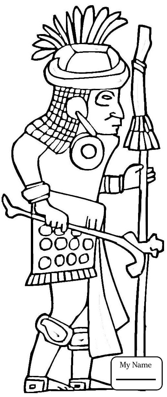 514x1224 History Mayan Warrior Maya Civilization Coloring Pages