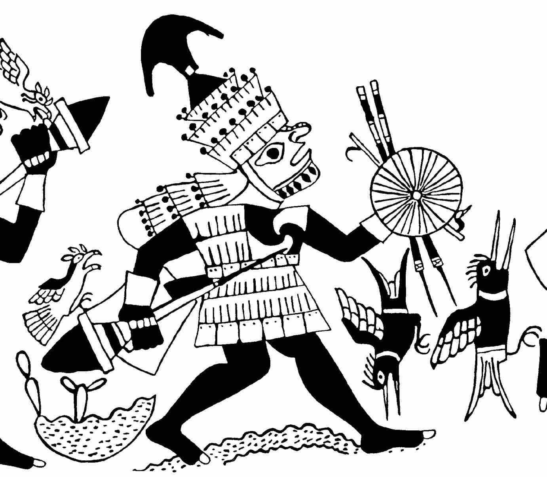 1382x1205 Mayan Jaguar Warrior Drawing From Ttpanimationalfileswordpresscom