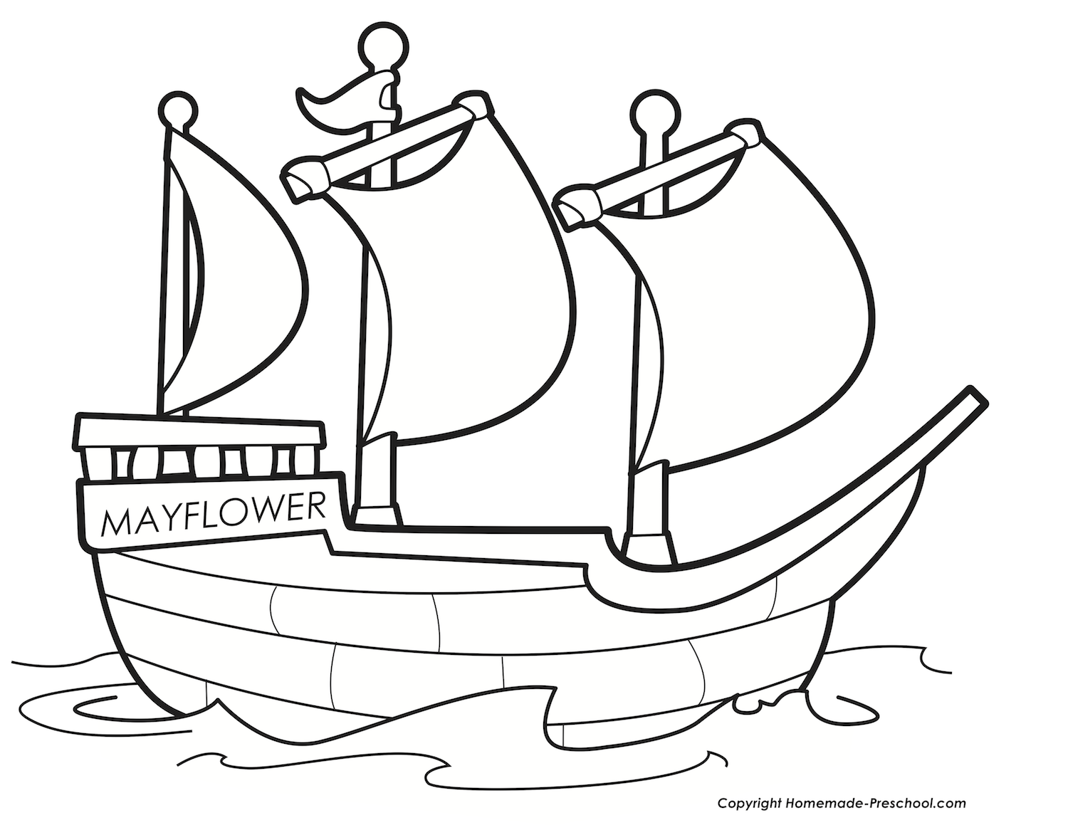 1500x1159 Mayflower Coloring Pages