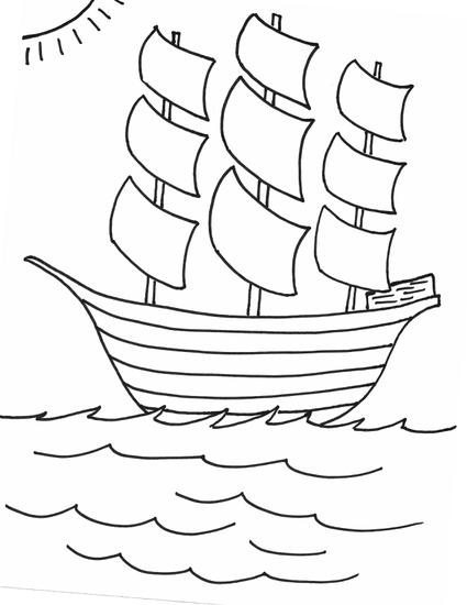 425x550 Mayflower Coloring Pages