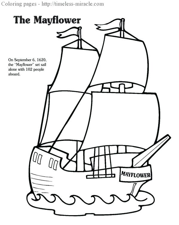 600x754 Mayflower Ship Coloring Page Doc Color Pages Compact Colo
