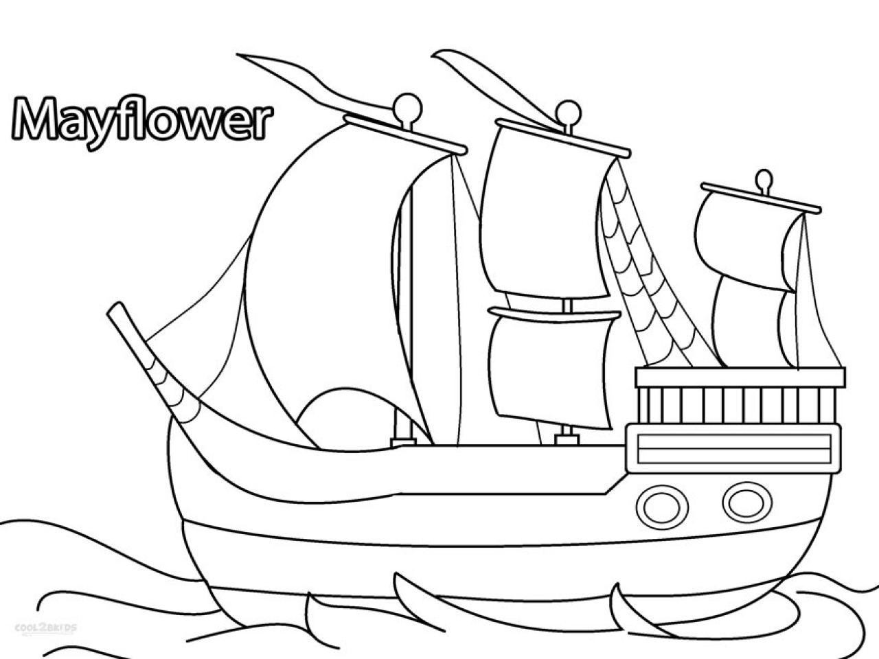 1280x960 The Mayflower Ship Coloring Pages Hellokids Com And Page