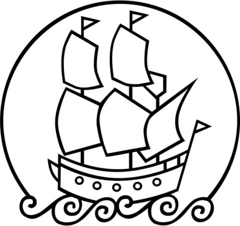 480x451 The Mayflower Ship Coloring Page Free Printable Coloring Pages