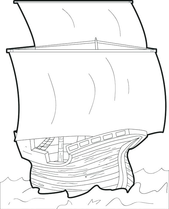 565x700 Mayflower Coloring Page
