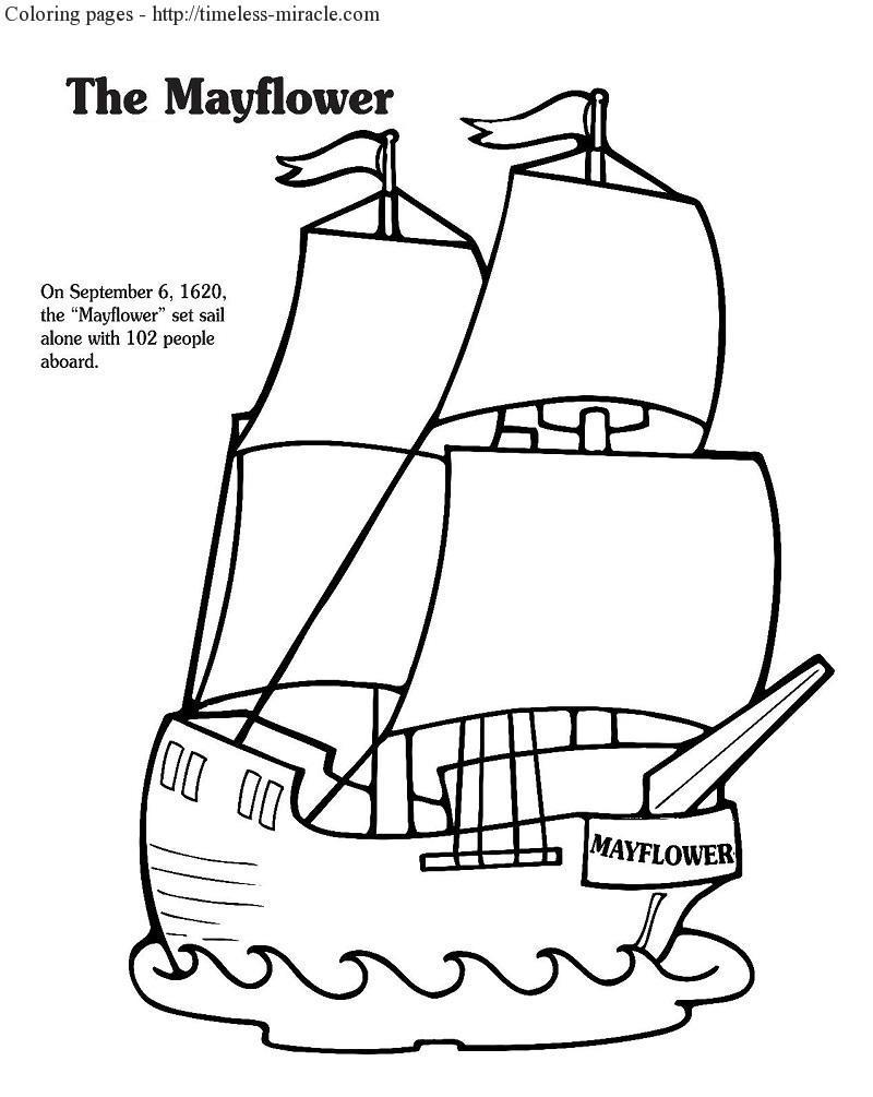800x1005 Mayflower Coloring Pages Coloring Page For Kids