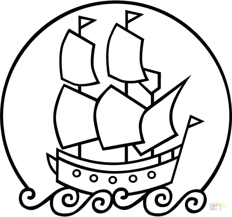 800x751 Elegant Mayflower Coloring Page Fee Click The Ship Pages Print