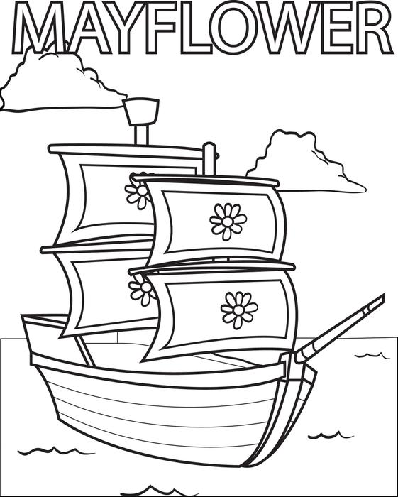 561x700 Free Printable Mayflower Coloring Page For Kids