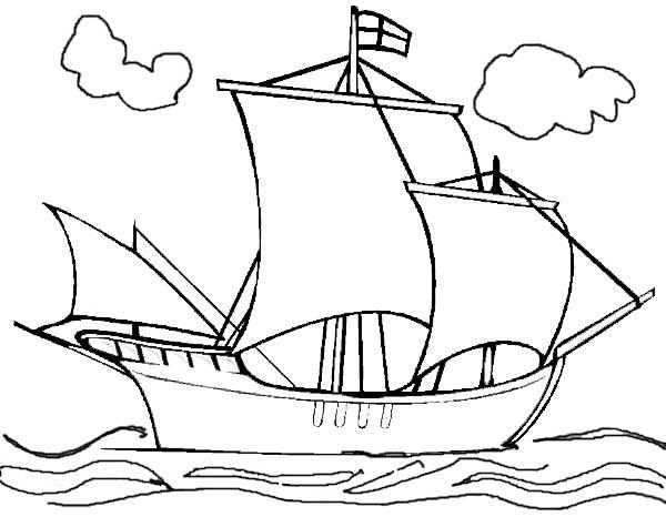Mayflower Ship Drawing