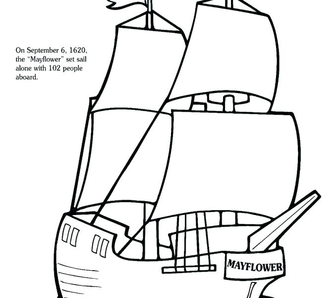 678x600 This Is Mayflower Coloring Page Images Click The Mayflower Ship