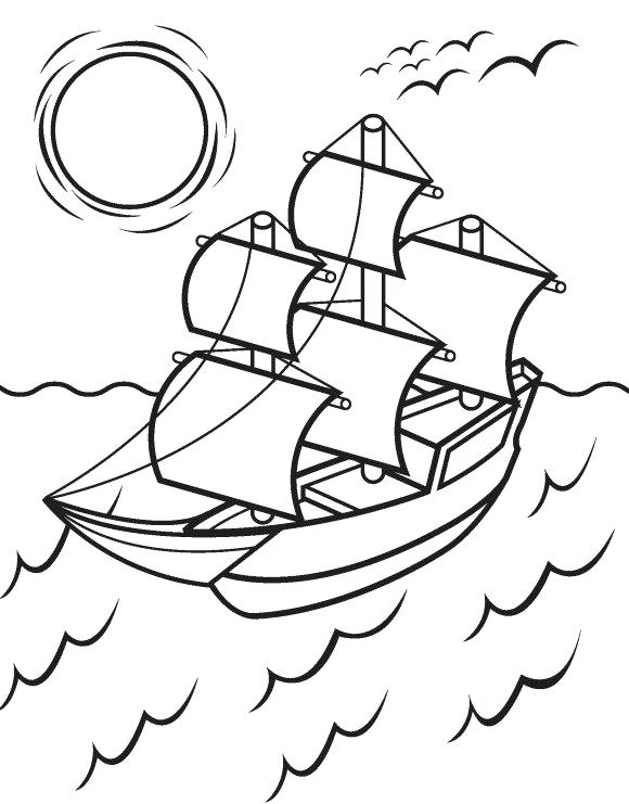 580x741 This Is Mayflower Coloring Page Images Pilgrims Mayflower Coloring