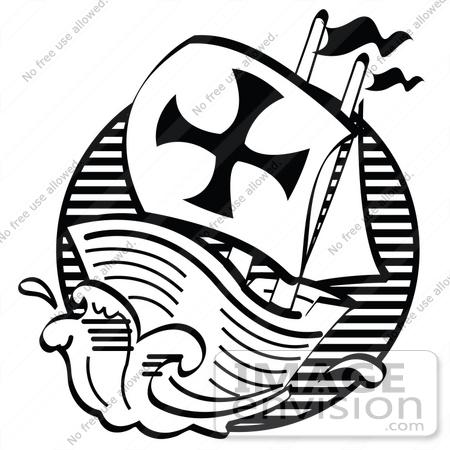 450x450 Clip Art Graphic Of The Mayflower Pilgrim Ship Sailing Rough Seas