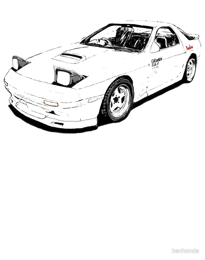 It's just a picture of Delicate Mazda Rx7 Drawing