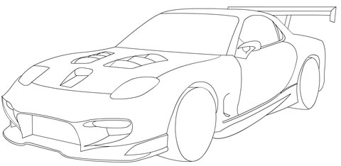 480x234 Mazda Rx 7 Sport Coloring Page Free Printable Coloring Pages