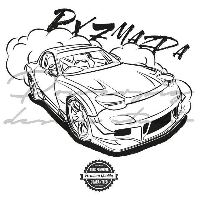 655x655 Rx7 Mazda Vector Design