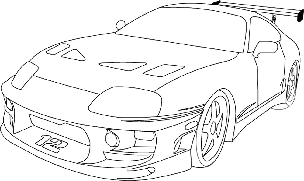 1000x594 98 Toyota Supra Coloring Page Dodge Challenger Coloring Pages