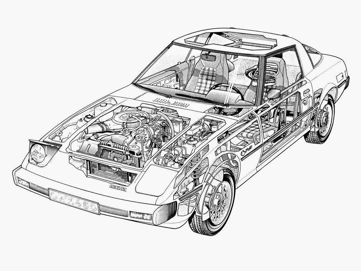 It's just an image of Dramatic Mazda Rx7 Drawing