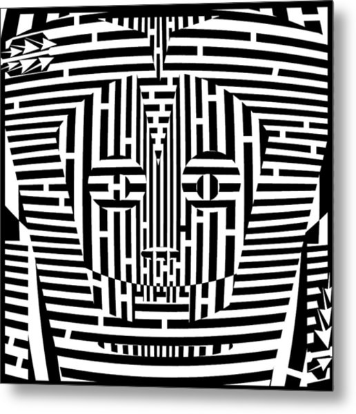 516x600 Confused Mask Maze Drawing By Yonatan Frimer Maze Artist