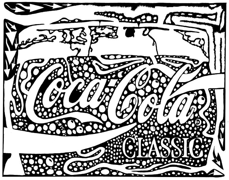 770x605 Saatchi Art Coca Cola Maze Ad Sample By Yonatan Frimer Drawing By