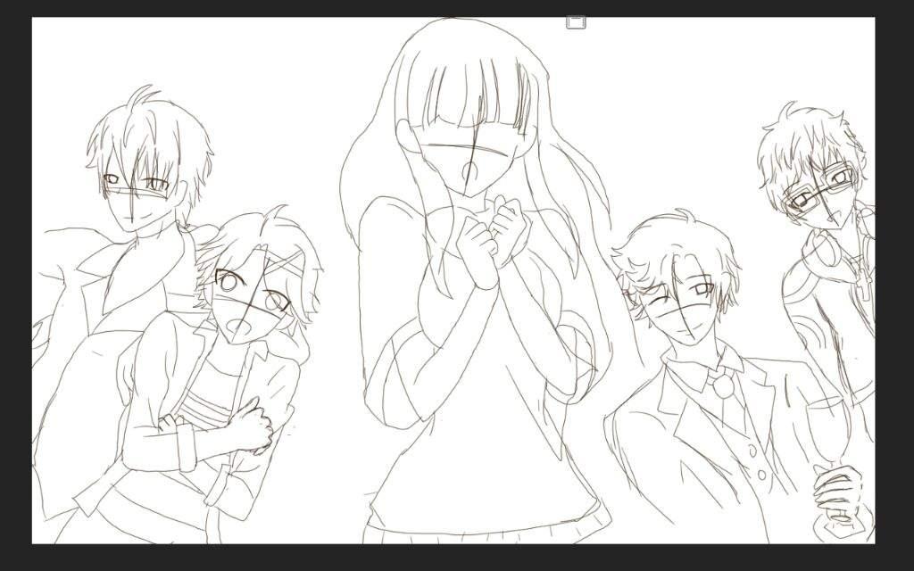 1024x640 Drawing Of The Rfa Boys And Mc Mystic Messenger Amino