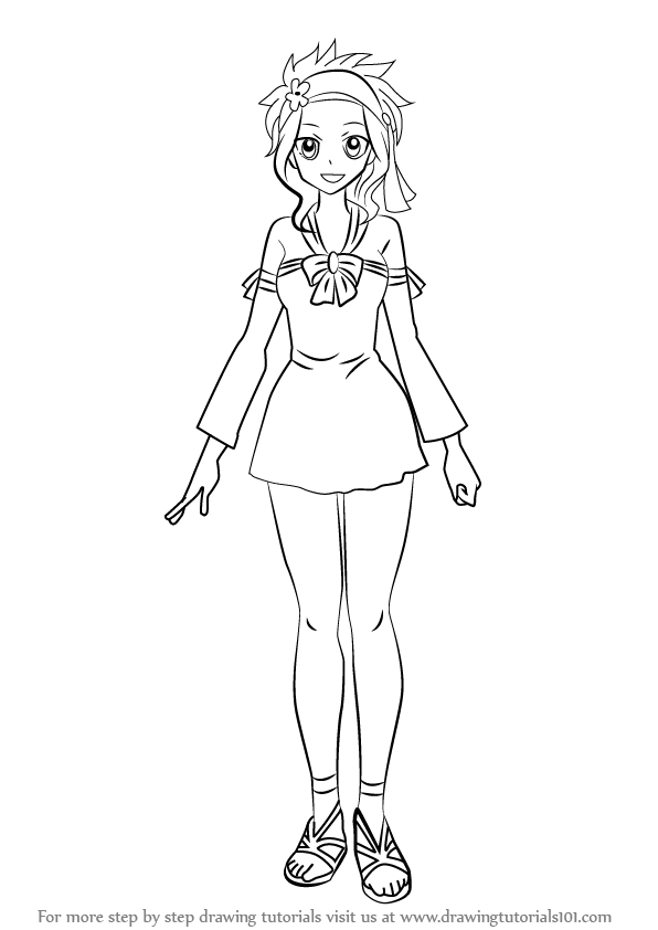 596x842 Learn How To Draw Levy Mcgarden From Fairy Tail (Fairy Tail) Step