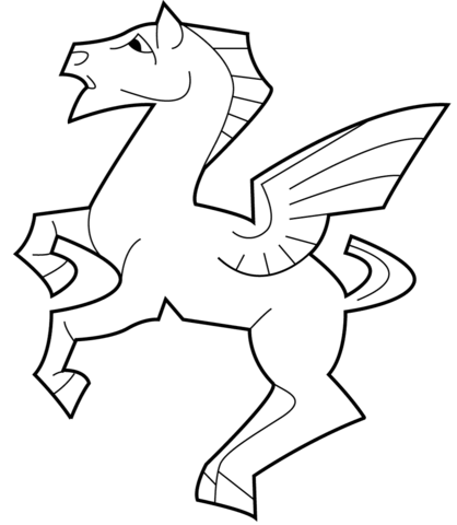 418x480 Pegasus By M.c. Escher Coloring Page Free Printable Coloring Pages