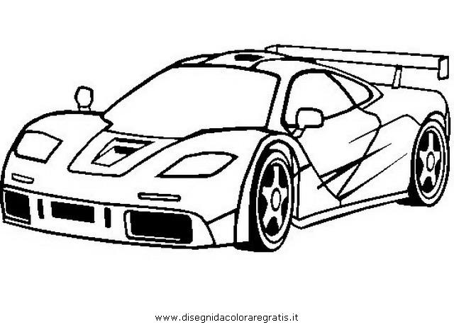 640x462 Disegno Mclaren F1 Personaggio Cartone Animato Da Colorare