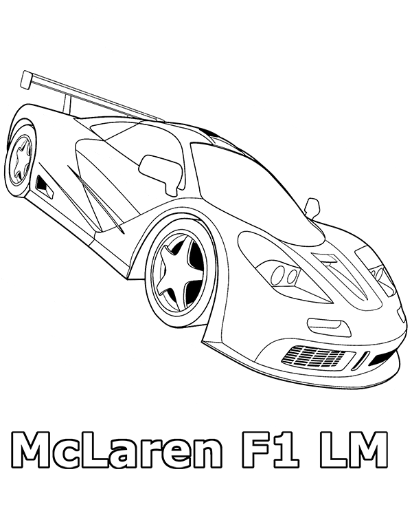 600x740 Mclaren Coloring Page To Print Or Download For Free