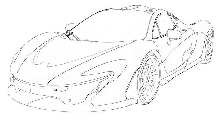 725x403 Resultado De Imagem Para Desenho De Uma Mclaren P1 Em Branco Car