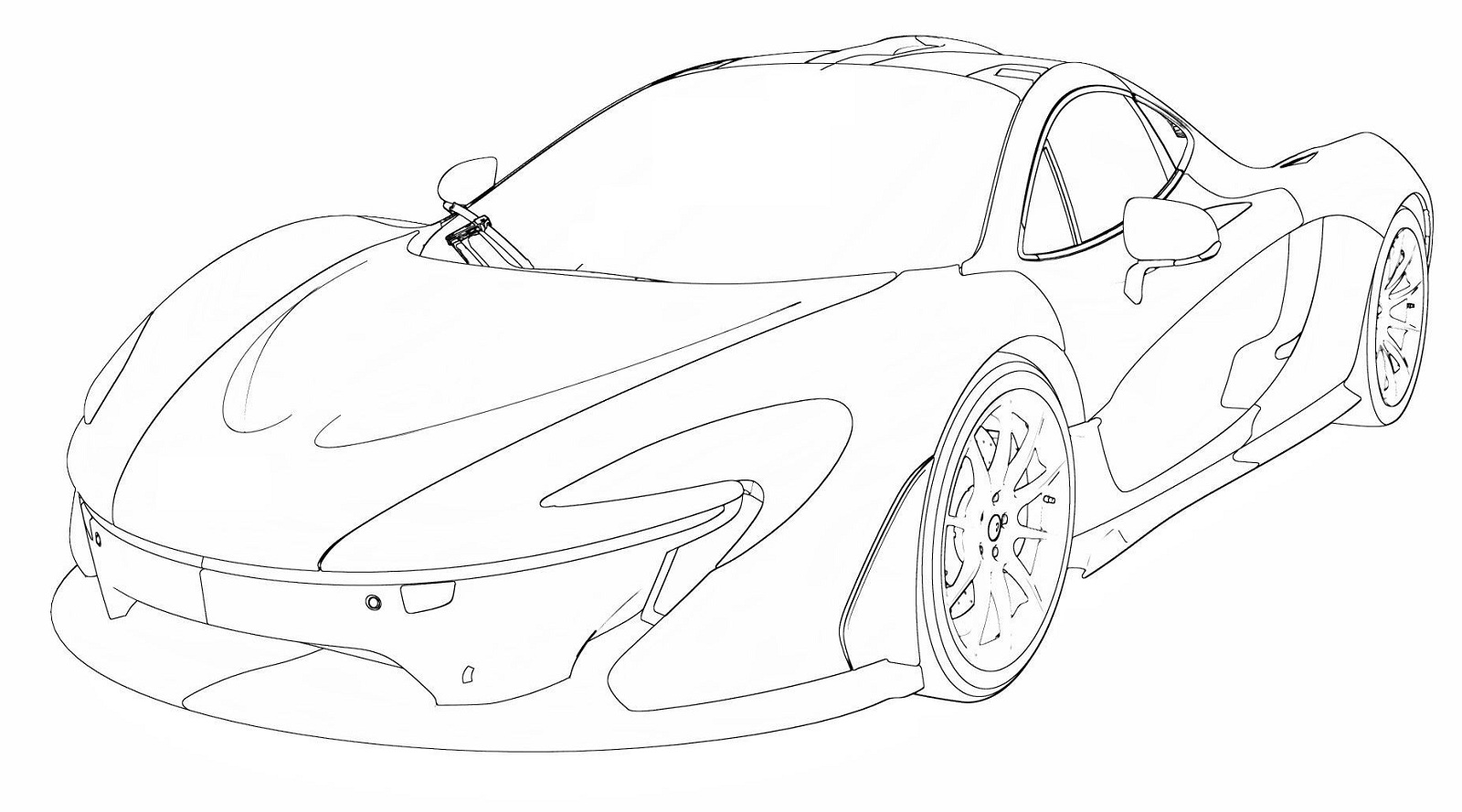 mclaren f1 coloring pages - photo#13