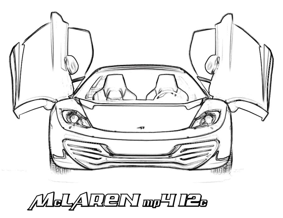 900x695 Coloring Pages Mclaren, Printable For Kids Amp Adults, Free
