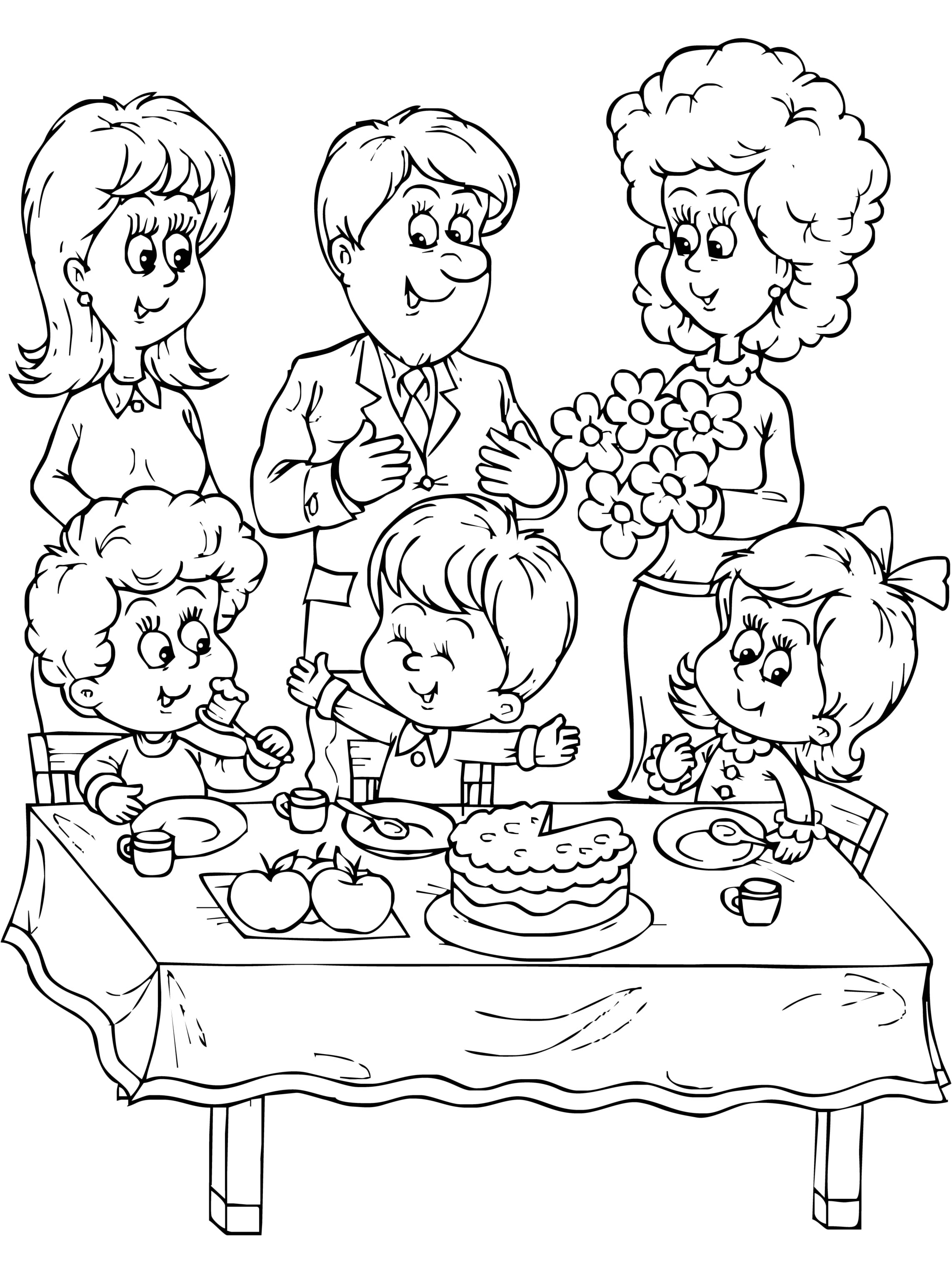 2285x3054 Family Coloring Page 2088