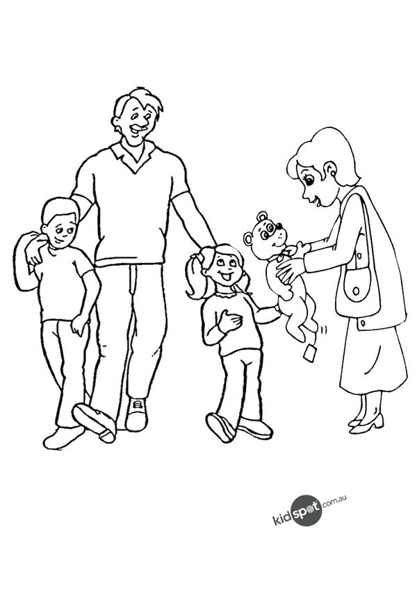 600x850 Family Coloring Pages Colouring Pages For My Family Love Coloring