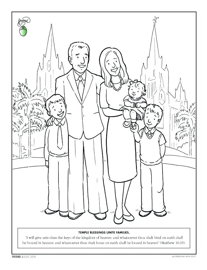 694x902 Coloring Pages Of Families Coloring Pages Family Family Standing