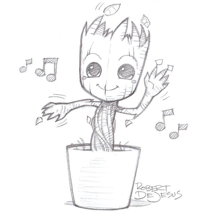 750x750 Dancing Groot By On @ Let'S