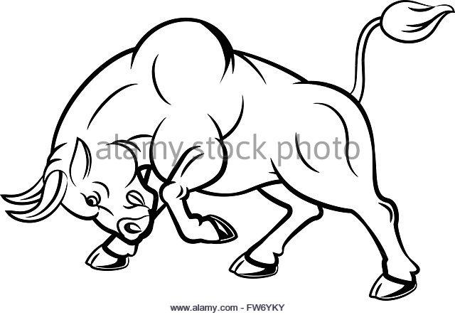 640x443 Cartoon Angry Bull Attacking Isolated Stock Photos Amp Cartoon Angry