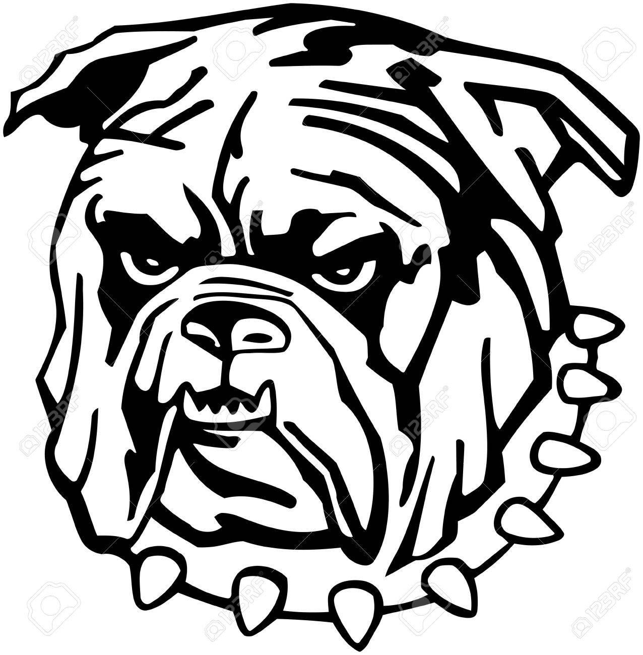 1276x1300 Mean Bulldog Royalty Free Cliparts, Vectors, And Stock