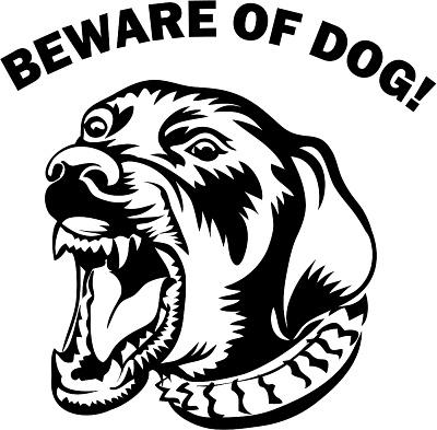 400x393 Mean Dog Face Clipart