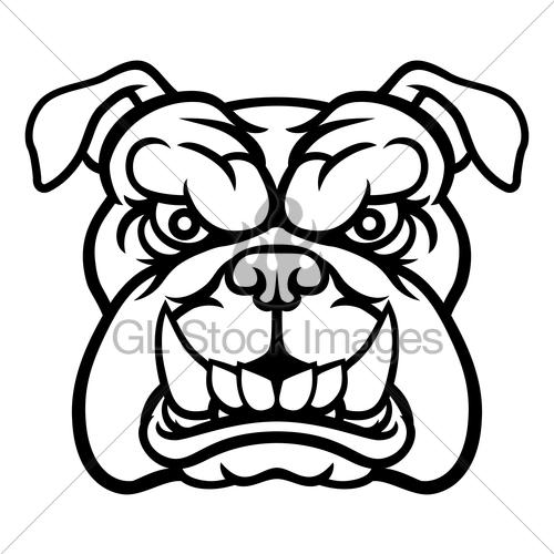 500x500 Bulldog Mean Sports Mascot Gl Stock Images