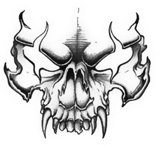 Mean Skull Drawing