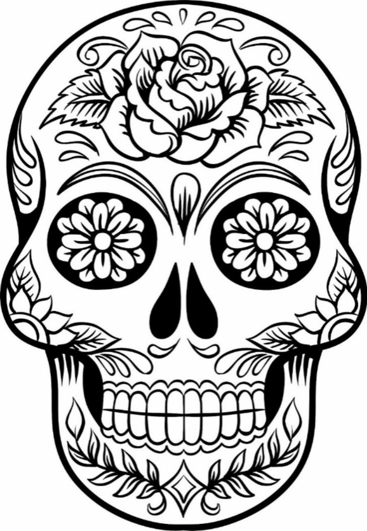 728x1054 The Best Sugar Skull Drawings Ideas On Sugar Skull
