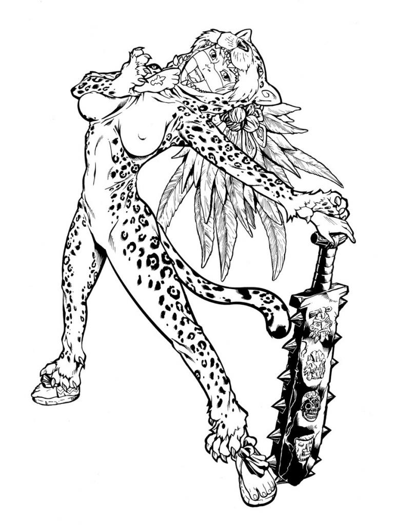 772x1024 Drawing Of Aztec Warrior Aztec Warrior Drawings Aztec Tattoos