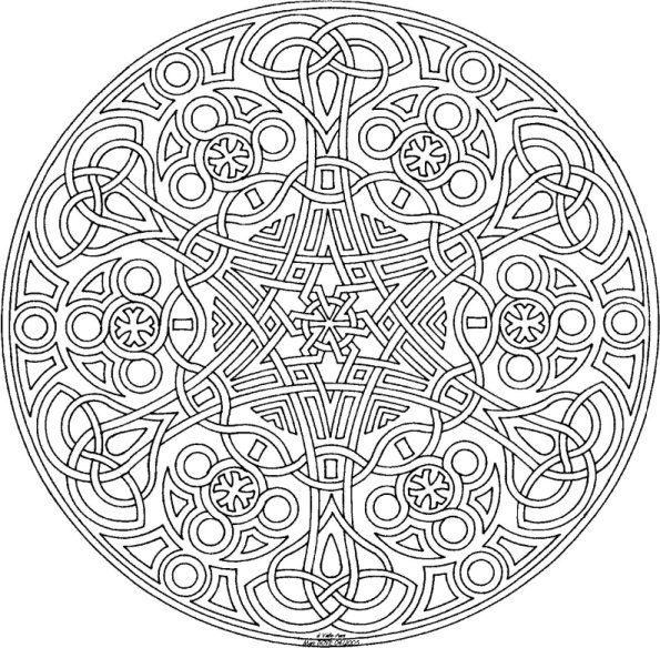 595x584 Best Ideas Of Printable Mandala Drawing Meaning About Download
